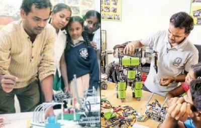 Meet Sridhar who is making robotics fun for govt school students