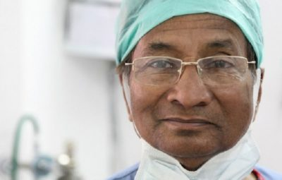 Yogi Aeron, 80-year-old doctor who treats burn patients for free